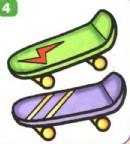 滑板简笔画简单画法
