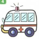 救护车简笔画图片画法
