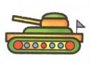坦克简笔画图片画法