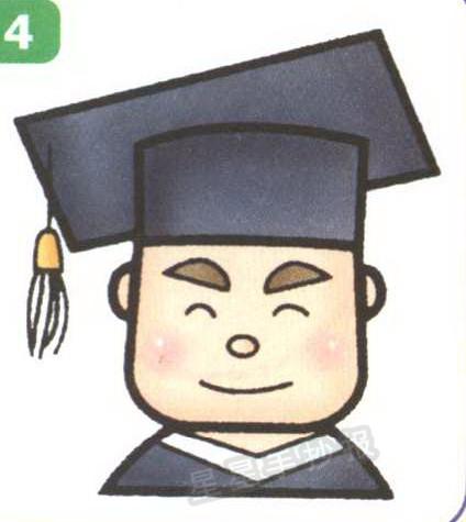 博士毕业生简笔画