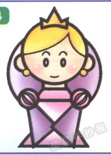 公主简笔画