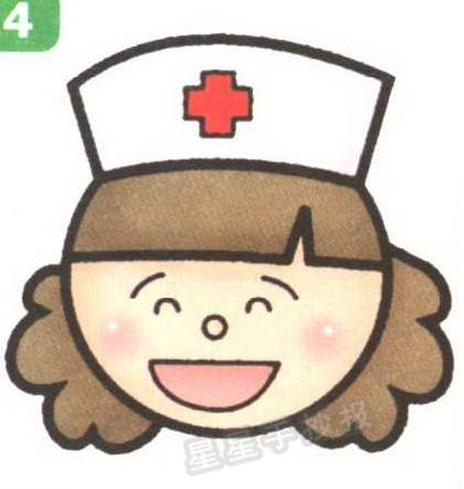 护士头像简笔画怎么画