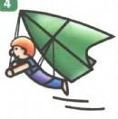 滑翔机运动员简笔画图片教程