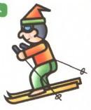 滑雪运动员简笔画图片教程
