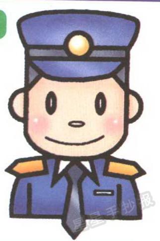 警察简笔画怎么画