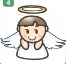 天使简笔画图片教程