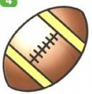橄榄球简笔画图片画法