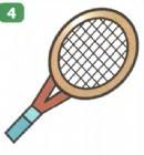 网球拍简笔画简单画法