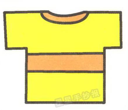 漂亮黄色衣服简笔画