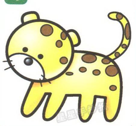 豹子简笔画