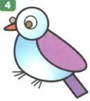 鸽子简笔画简单画法