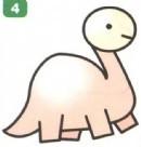恐龙简笔画图片画法