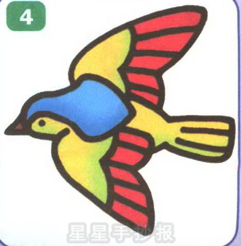 鸟的卡通简笔画图片