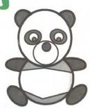 熊猫简笔画图片画法