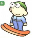 滑雪运动员简笔画