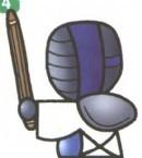 剑道运动员简笔画怎么画