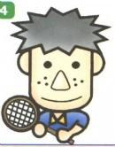 羽毛球运动员简笔画怎么画