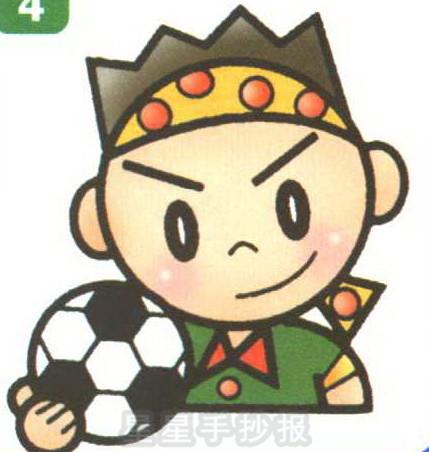 足球运动员简笔画