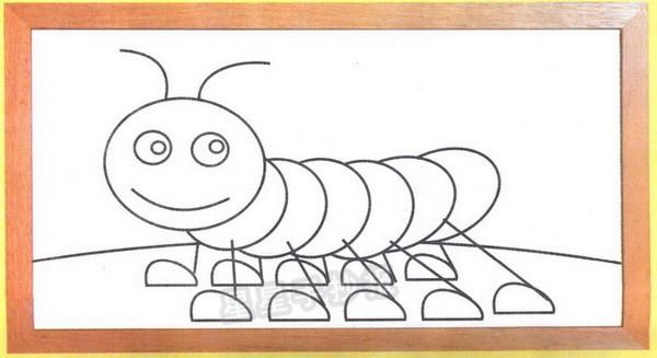 毛毛虫简笔画图片教程