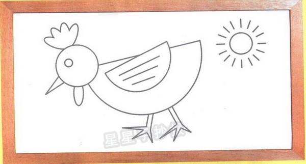 母鸡简笔画图片教程