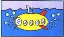 潜水艇简笔画图片画法