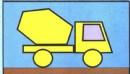 水泥搅拌车简笔画怎么画