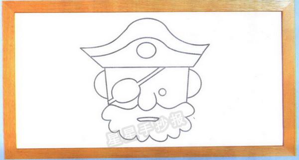 海盗头像简笔画图片(未上色版)
