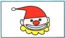 小丑头像简笔画
