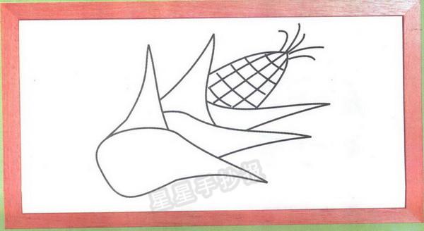 1串玉米简笔画图片_玉米简笔画图片画法