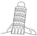 意大利比萨斜塔简笔画