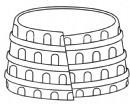 古罗马圆形竟技场简笔画
