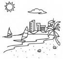 海滨城市简笔画