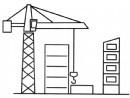 建筑工地简笔画