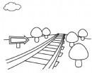 乡间铁路简笔画