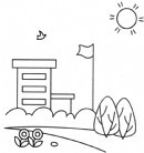 小学学校简笔画