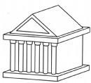 雅典神庙简笔画