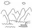 桂林山水简笔画怎么画