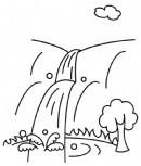 黄果树瀑布简笔画