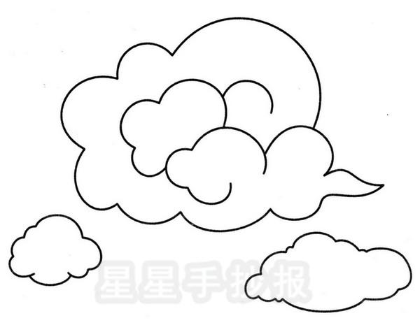 云彩简笔画