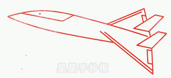 超音速飞机简笔画