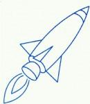 简单火箭简笔画