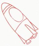 太空飞船简笔画简单画法