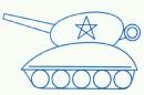 坦克简笔画图片步骤教程