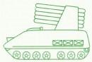 自行火箭炮简笔画
