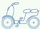 电动自行车简笔画