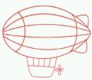 飞艇简笔画图片步骤教程