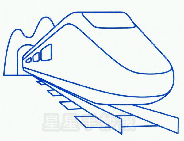 高速列车简笔画