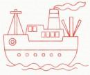 轮船简笔画简单画法