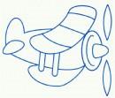 螺旋桨飞机简笔画怎么画