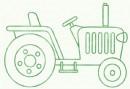 农用拖拉机简笔画